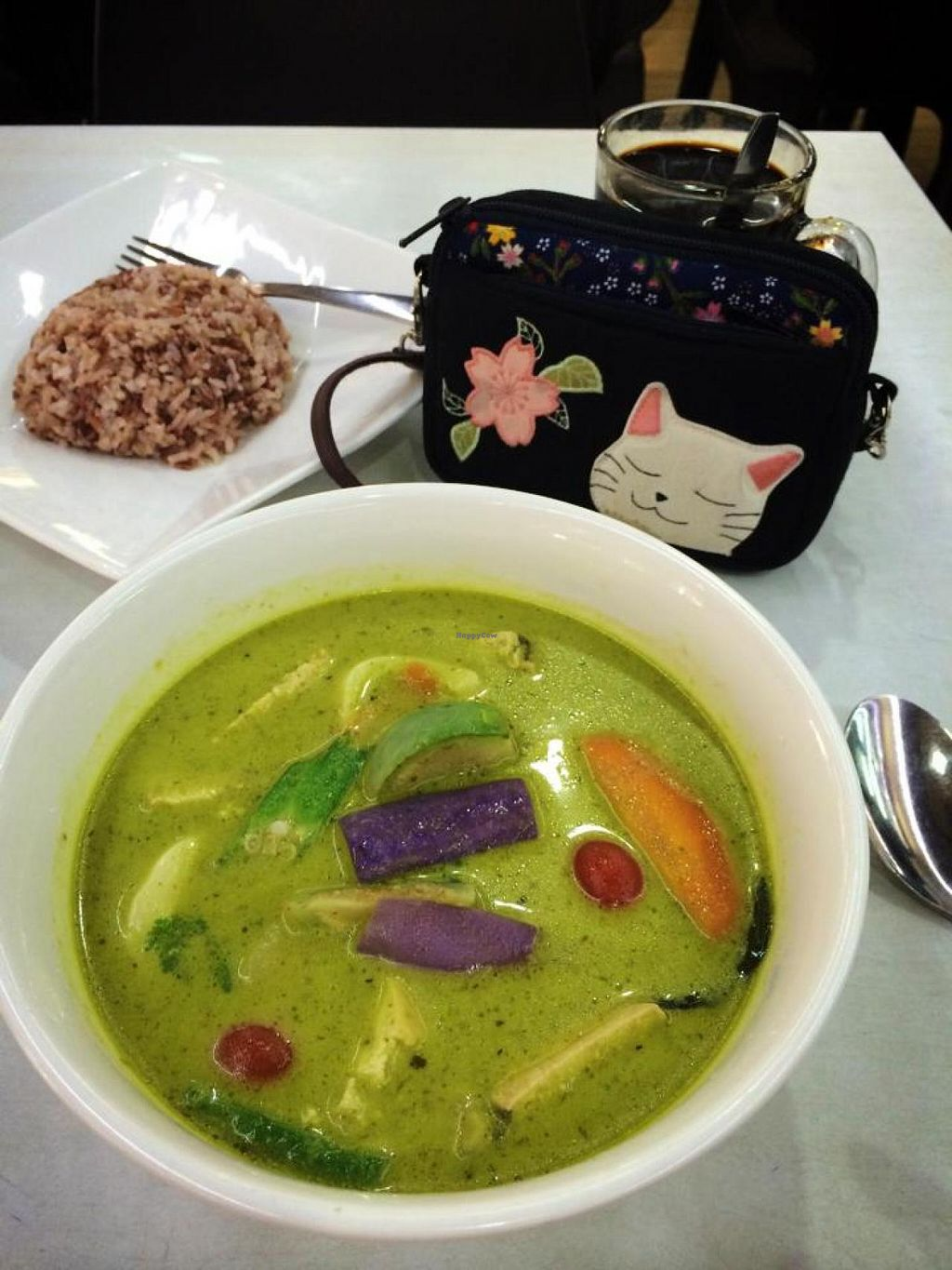 """Photo of Onn Vegetarian  by <a href=""""/members/profile/Kiwi%20Wannabe"""">Kiwi Wannabe</a> <br/>Delicious green curry.  This is a special so watch their Facebook page to see when they'll have it! <br/> December 1, 2014  - <a href='/contact/abuse/image/53410/87015'>Report</a>"""