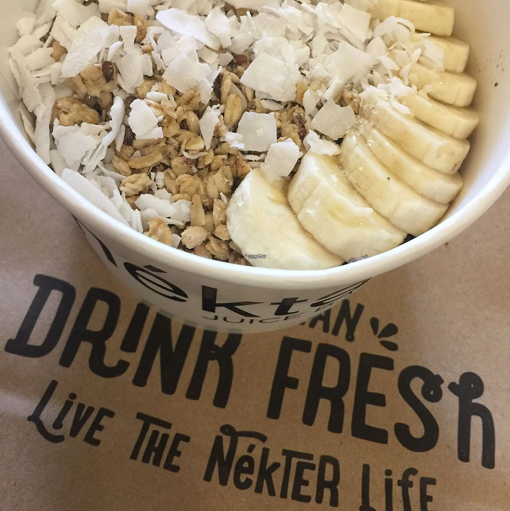 """Photo of Nekter Juice Bar  by <a href=""""/members/profile/VegAnne_Ca"""">VegAnne_Ca</a> <br/>nondairy acai bowl  <br/> March 29, 2017  - <a href='/contact/abuse/image/53416/242211'>Report</a>"""