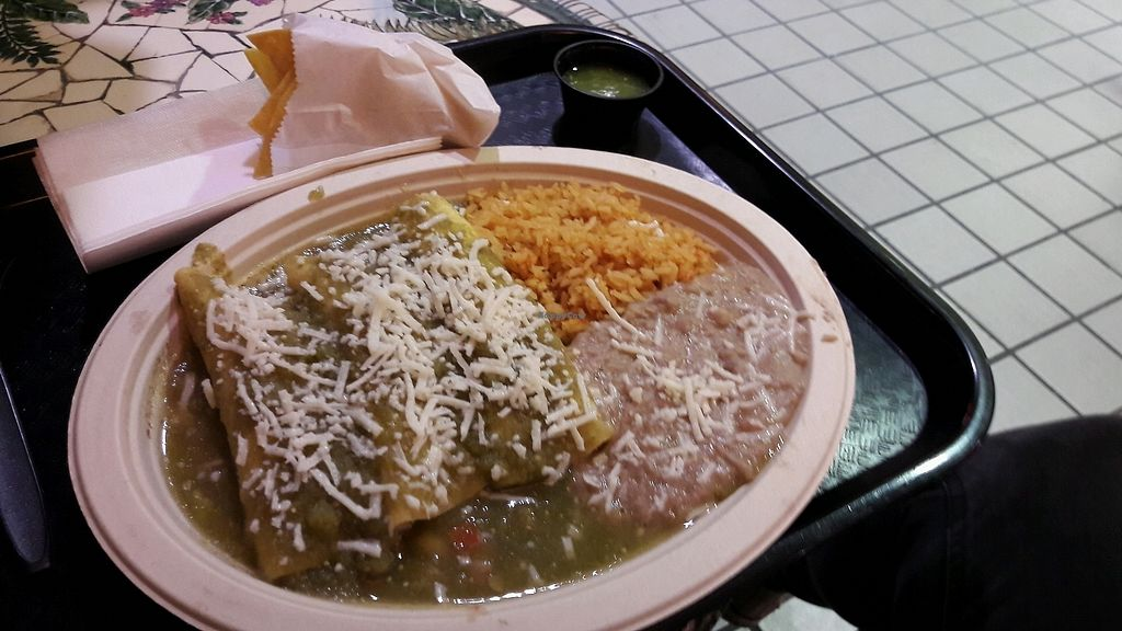 """Photo of Norte Sur  by <a href=""""/members/profile/piffelina"""">piffelina</a> <br/>Green enchiladas <br/> January 11, 2018  - <a href='/contact/abuse/image/53445/345289'>Report</a>"""