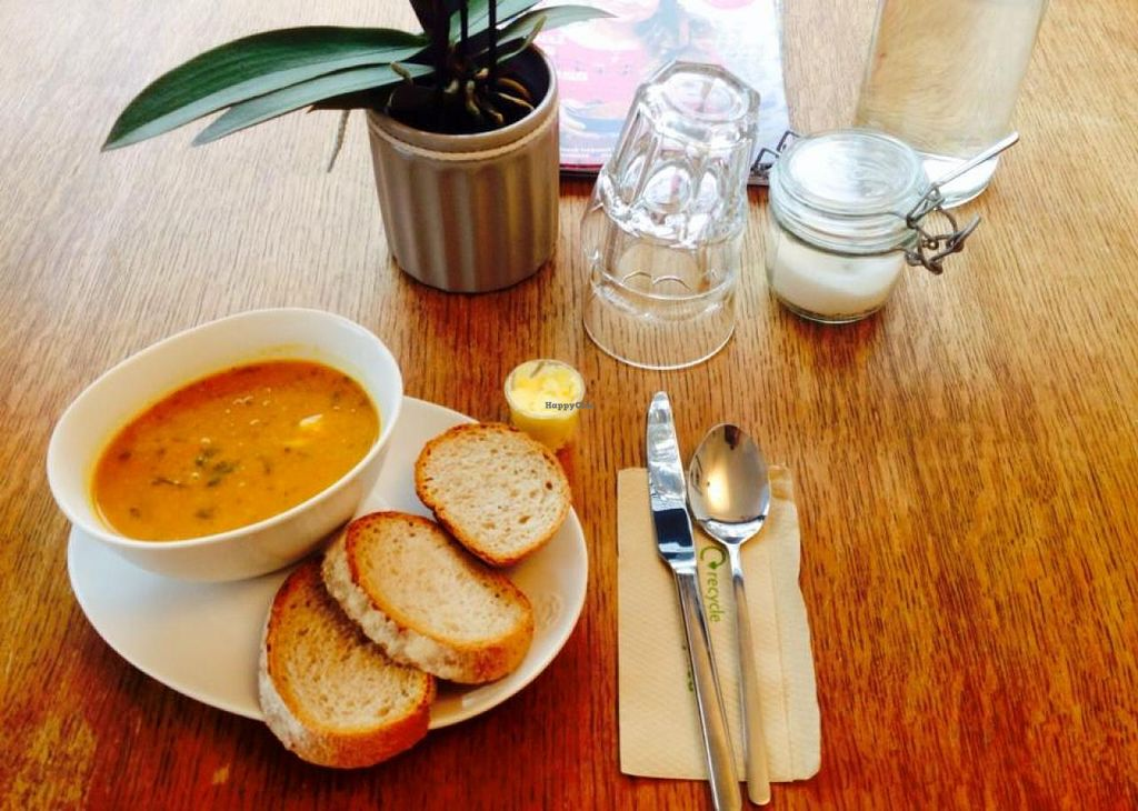 """Photo of Miriam's Munchies  by <a href=""""/members/profile/DanielleMoubarak"""">DanielleMoubarak</a> <br/>We serve freshly made soups and breads daily <br/> December 9, 2014  - <a href='/contact/abuse/image/53450/87587'>Report</a>"""