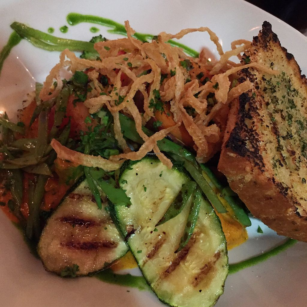 """Photo of Yemanja Woodfired Grill  by <a href=""""/members/profile/Eefie"""">Eefie</a> <br/>Mmmmm grilled vegetables witch caribbean creole sauce can be served vegan <br/> October 14, 2017  - <a href='/contact/abuse/image/53461/314993'>Report</a>"""