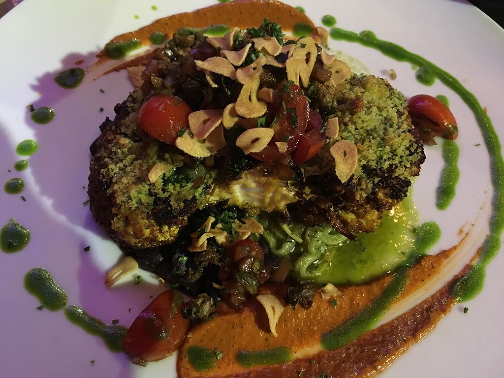 """Photo of Yemanja Woodfired Grill  by <a href=""""/members/profile/mike1366"""">mike1366</a> <br/>Cauliflower Steak <br/> January 23, 2018  - <a href='/contact/abuse/image/53461/350114'>Report</a>"""