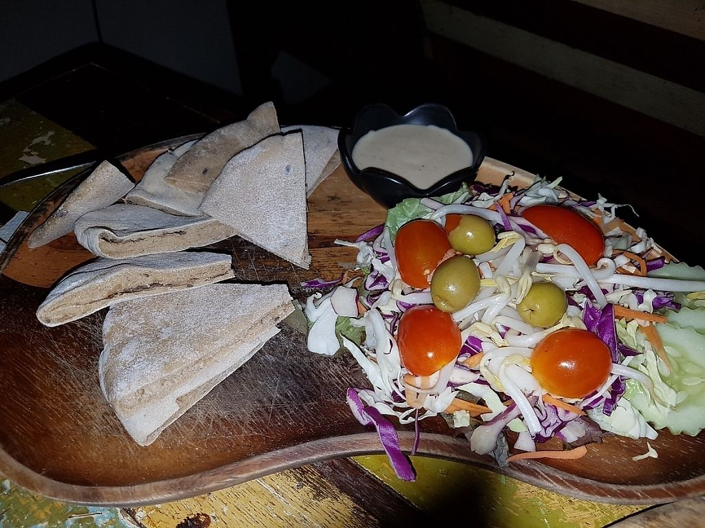 "Photo of Eat Co  by <a href=""/members/profile/Rosa%20veg"">Rosa veg</a> <br/>Pita and salad  <br/> April 23, 2017  - <a href='/contact/abuse/image/53484/251293'>Report</a>"