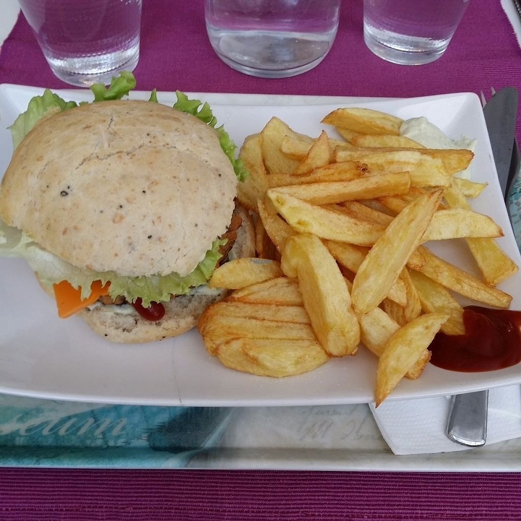 """Photo of Les Delices De Gigi  by <a href=""""/members/profile/Jeane"""">Jeane</a> <br/>Vegan burger <br/> April 8, 2017  - <a href='/contact/abuse/image/53495/245902'>Report</a>"""