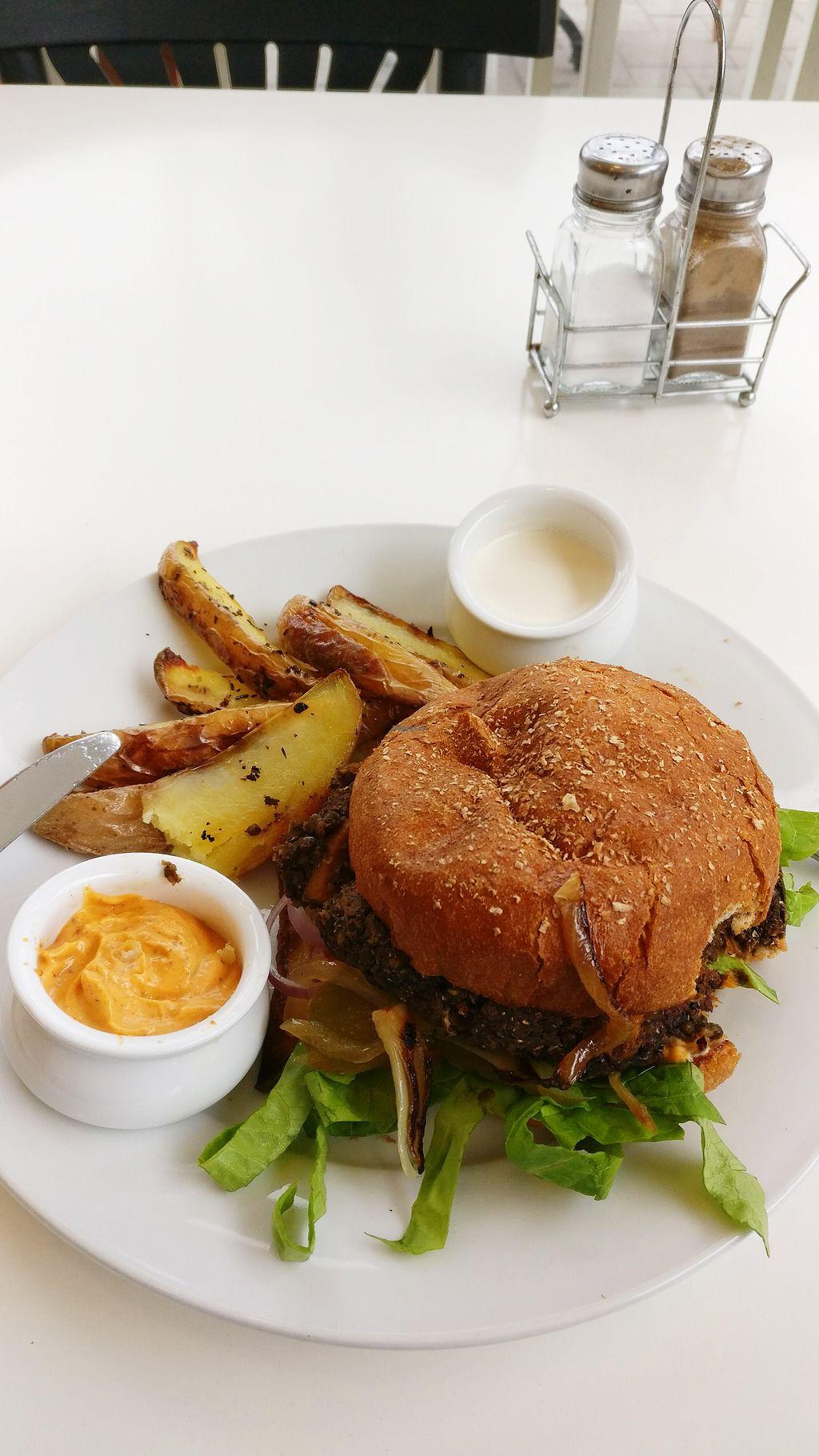 "Photo of Buddha Burgers  by <a href=""/members/profile/KarinKoala"">KarinKoala</a> <br/>Amazing vegan burger at yokneam Buddha burger  <br/> April 1, 2018  - <a href='/contact/abuse/image/53505/379261'>Report</a>"