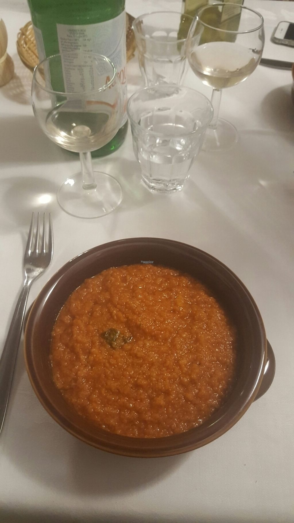 """Photo of Trattoria Enzo e Piero  by <a href=""""/members/profile/loveforveganfood"""">loveforveganfood</a> <br/>Tomatoe bread soup  <br/> February 11, 2017  - <a href='/contact/abuse/image/53571/225385'>Report</a>"""