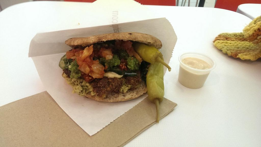 """Photo of Amsterdam Falafelshop - L'Enfant Plaza  by <a href=""""/members/profile/wildeyedgirl"""">wildeyedgirl</a> <br/>falafel pita  <br/> January 6, 2015  - <a href='/contact/abuse/image/53593/89670'>Report</a>"""