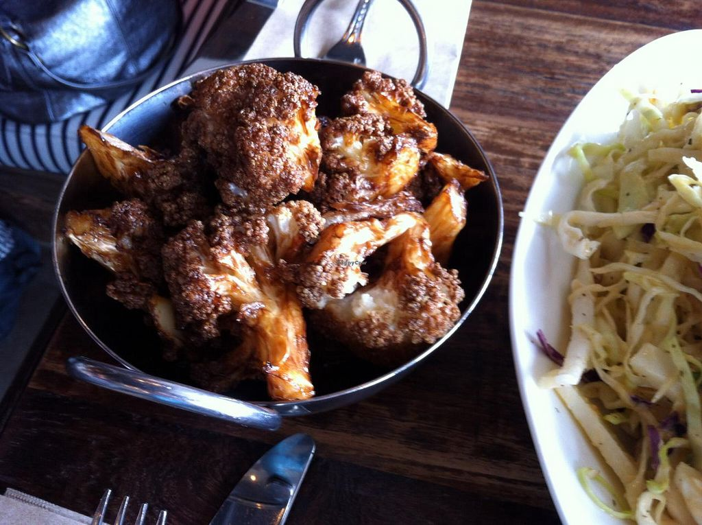 """Photo of JamJar - Commercial Dr  by <a href=""""/members/profile/vegan%20frog"""">vegan frog</a> <br/>Fried cauliflower <br/> March 23, 2015  - <a href='/contact/abuse/image/53611/96726'>Report</a>"""
