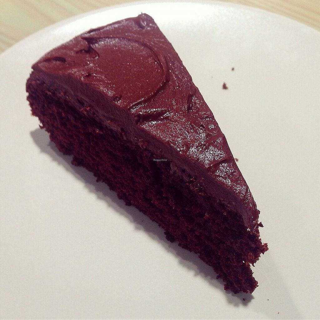 """Photo of Roots Vegetarian Cafe  by <a href=""""/members/profile/findingfay"""">findingfay</a> <br/>Vegan chocolate orange cake <br/> October 1, 2017  - <a href='/contact/abuse/image/53616/310491'>Report</a>"""