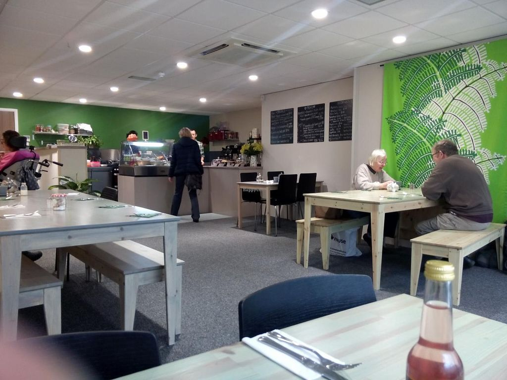 """Photo of Roots Vegetarian Cafe  by <a href=""""/members/profile/radiocaz"""">radiocaz</a> <br/>inside - modern, comfy and clean <br/> March 13, 2015  - <a href='/contact/abuse/image/53616/95625'>Report</a>"""