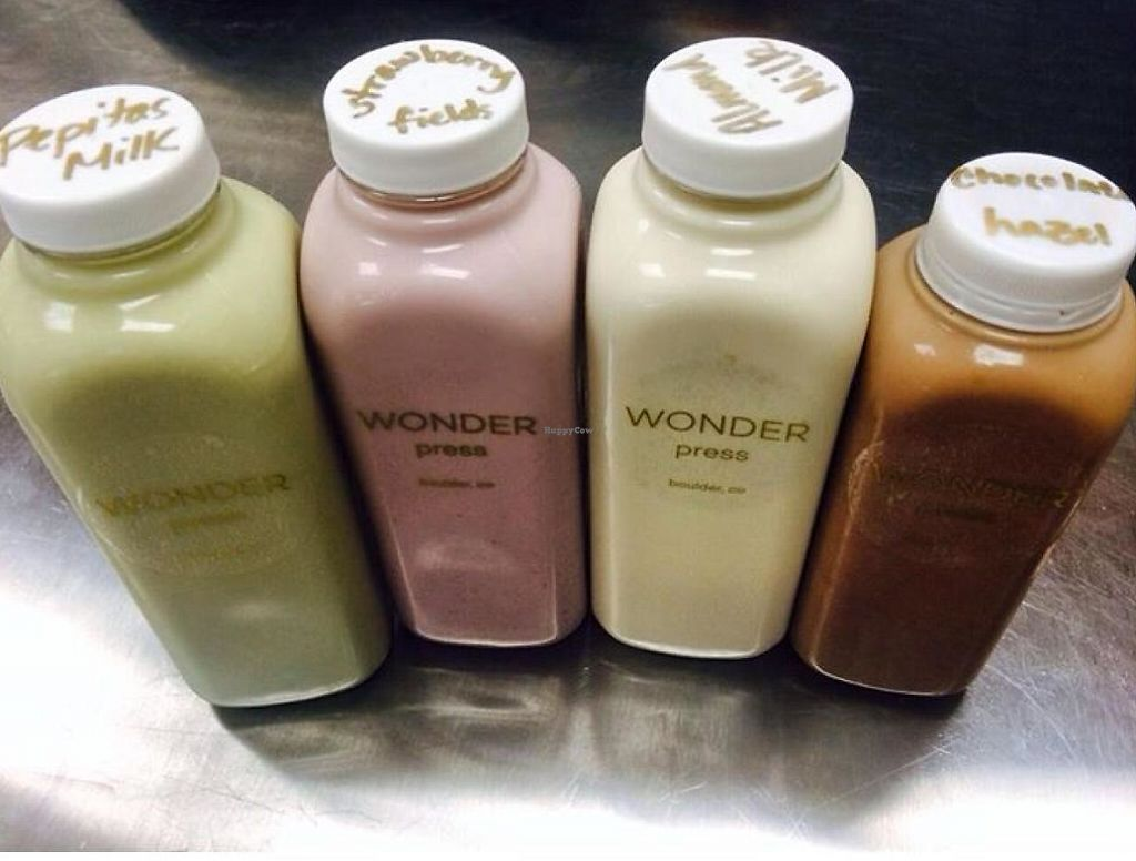 """Photo of Wonder Press Juice Bar - Pop-up  by <a href=""""/members/profile/community"""">community</a> <br/>juices  <br/> December 11, 2014  - <a href='/contact/abuse/image/53618/190820'>Report</a>"""