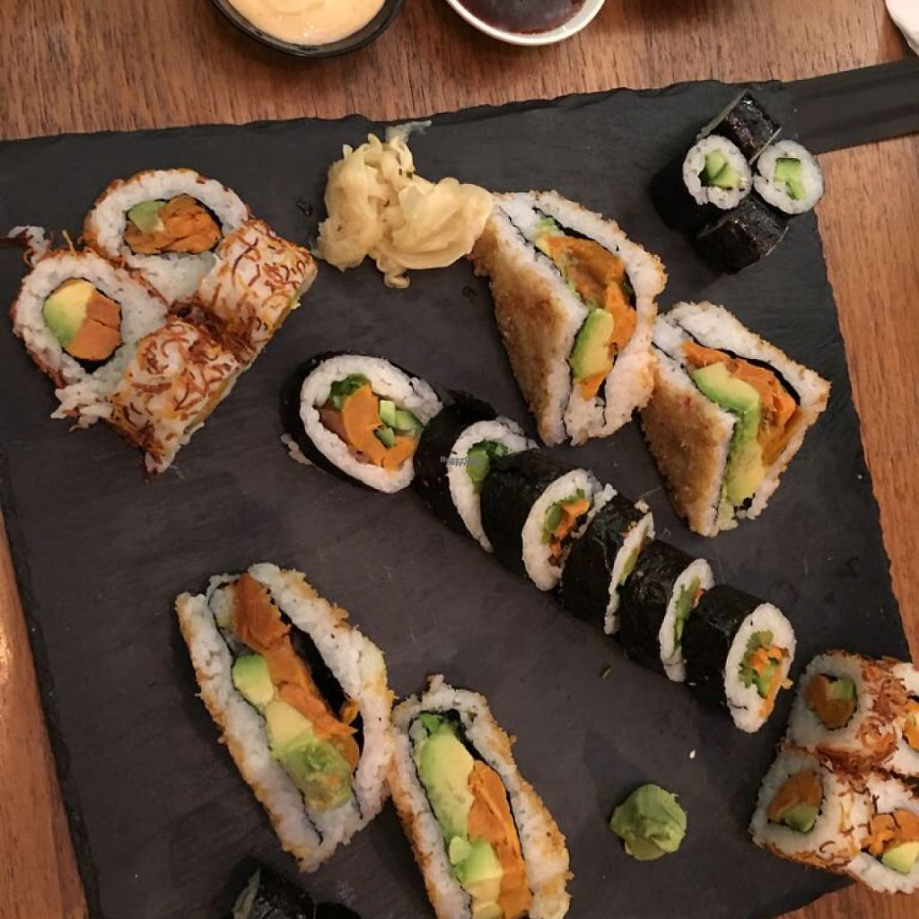 """Photo of The Green Roll  by <a href=""""/members/profile/SaraMolin"""">SaraMolin</a> <br/>Sushi combination for two <br/> February 28, 2017  - <a href='/contact/abuse/image/53638/231227'>Report</a>"""