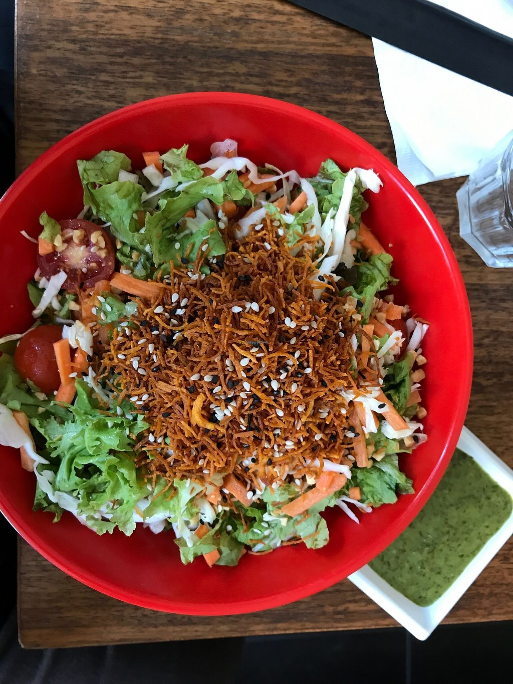 """Photo of The Green Roll  by <a href=""""/members/profile/Brok%20O.%20Lee"""">Brok O. Lee</a> <br/>Vegan Green House salad <br/> August 27, 2017  - <a href='/contact/abuse/image/53638/297804'>Report</a>"""
