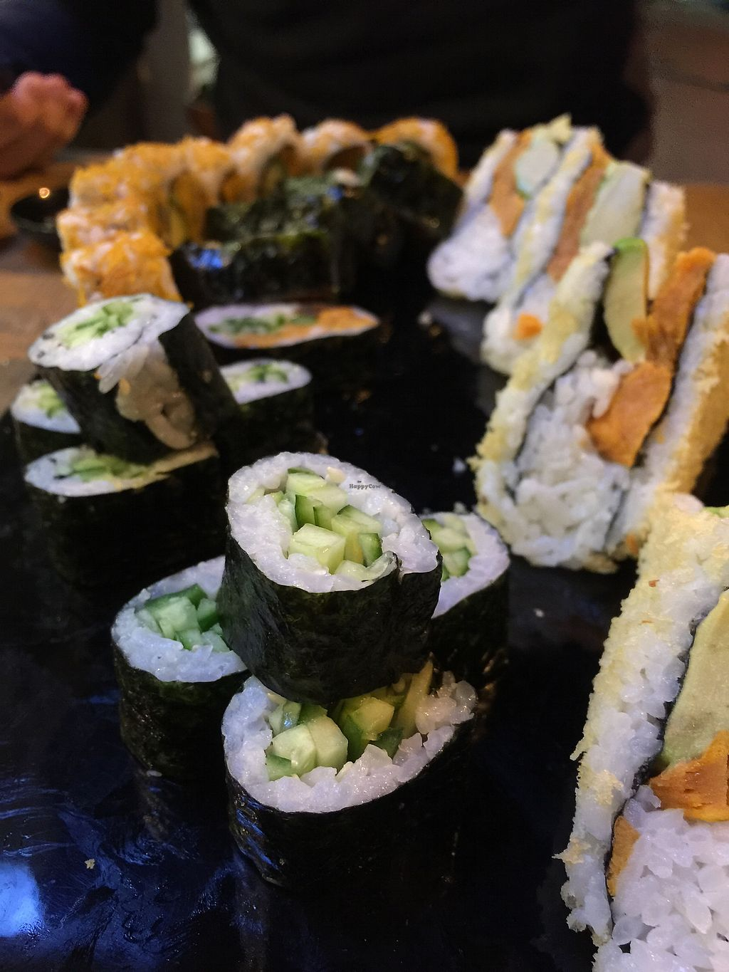 """Photo of The Green Roll  by <a href=""""/members/profile/Starrynita"""">Starrynita</a> <br/>sushi with cucumber ans sweet-potato <br/> March 5, 2018  - <a href='/contact/abuse/image/53638/367078'>Report</a>"""