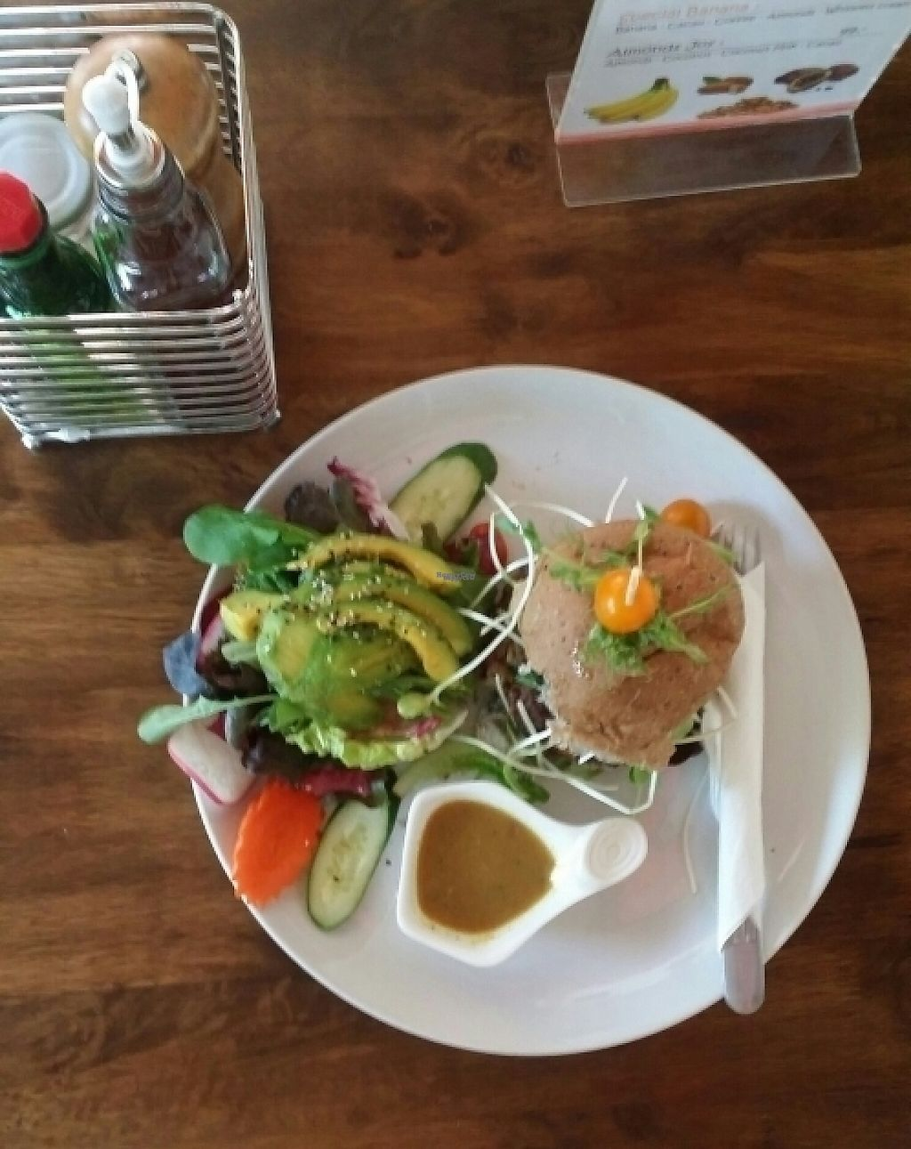 """Photo of Bubbles Live  by <a href=""""/members/profile/Mike%20Munsie"""">Mike Munsie</a> <br/>vegi burger with avo salad <br/> March 15, 2017  - <a href='/contact/abuse/image/53652/236667'>Report</a>"""