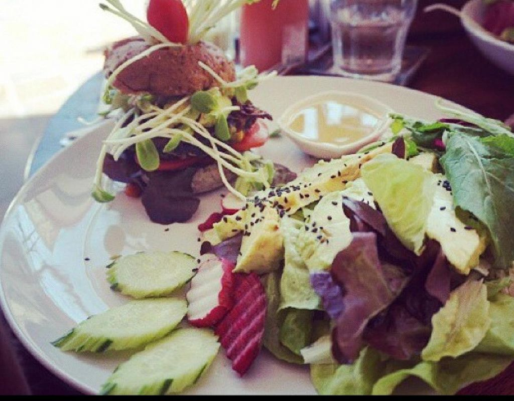 """Photo of Bubbles Live  by <a href=""""/members/profile/Anniegracexx"""">Anniegracexx</a> <br/>home made avocado burger and salad <br/> February 5, 2015  - <a href='/contact/abuse/image/53652/92255'>Report</a>"""
