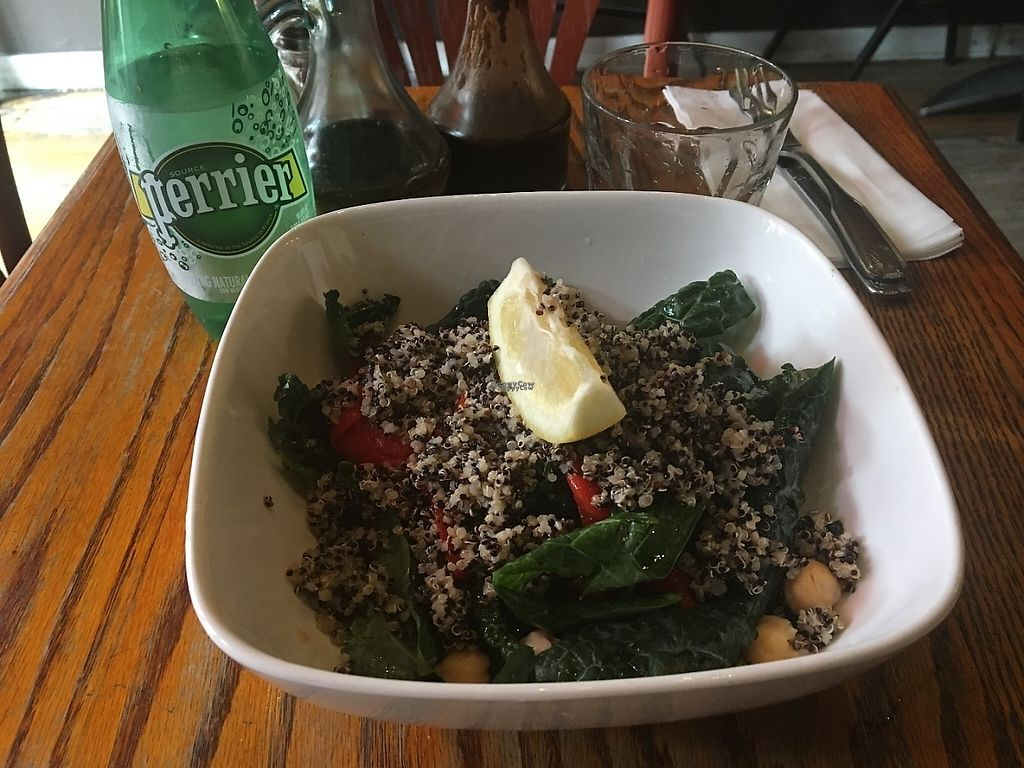"""Photo of Atlas Cafe and Bakery  by <a href=""""/members/profile/JJones315"""">JJones315</a> <br/>Quinoa kale salad <br/> April 20, 2017  - <a href='/contact/abuse/image/5365/250363'>Report</a>"""