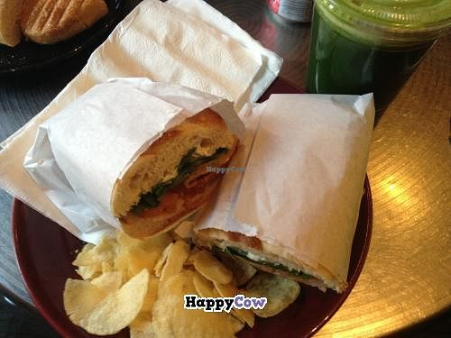 """Photo of Atlas Cafe and Bakery  by <a href=""""/members/profile/Sarask"""">Sarask</a> <br/>A veggie sandwich with potato chips <br/> July 31, 2013  - <a href='/contact/abuse/image/5365/52499'>Report</a>"""
