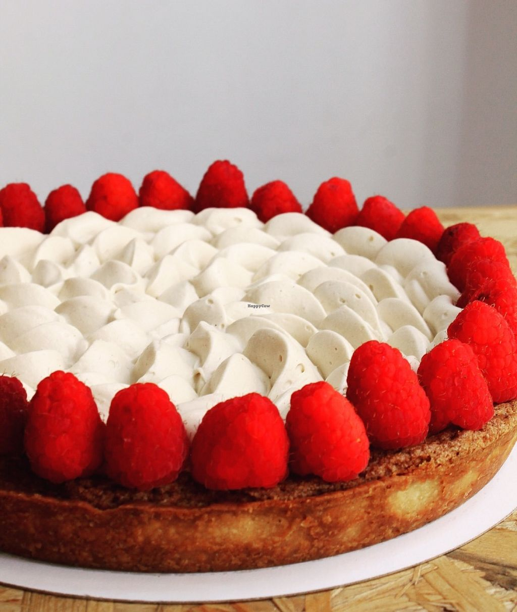 """Photo of El Vergel Veggie Restaurant  by <a href=""""/members/profile/Alvaro%20El%20Vergel"""">Alvaro El Vergel</a> <br/>Almonds and strawberries pie <br/> June 27, 2016  - <a href='/contact/abuse/image/53682/156452'>Report</a>"""