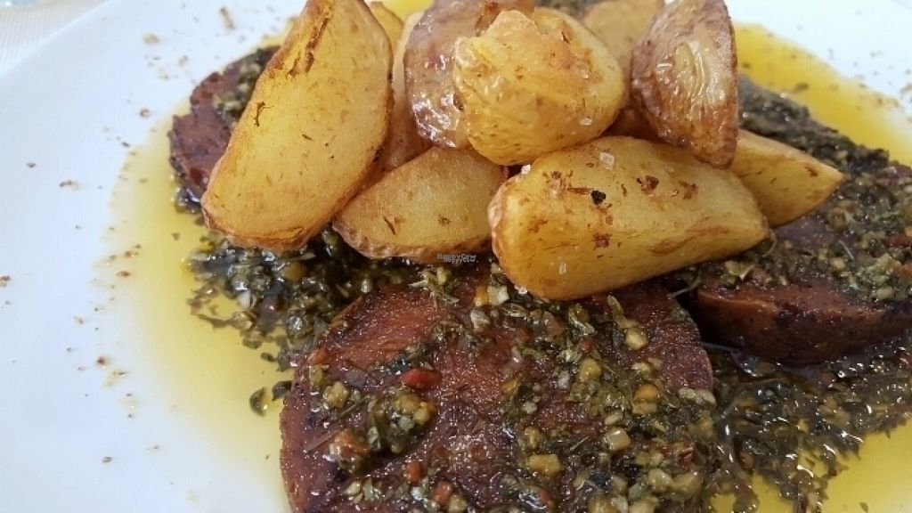 """Photo of El Vergel Veggie Restaurant  by <a href=""""/members/profile/chagua"""">chagua</a> <br/>Chorizo con patatas <br/> August 20, 2016  - <a href='/contact/abuse/image/53682/170209'>Report</a>"""