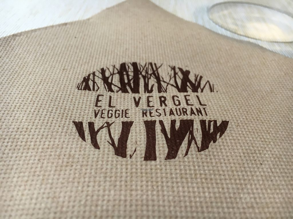 """Photo of El Vergel Veggie Restaurant  by <a href=""""/members/profile/hack_man"""">hack_man</a> <br/>napkin <br/> November 20, 2016  - <a href='/contact/abuse/image/53682/192500'>Report</a>"""