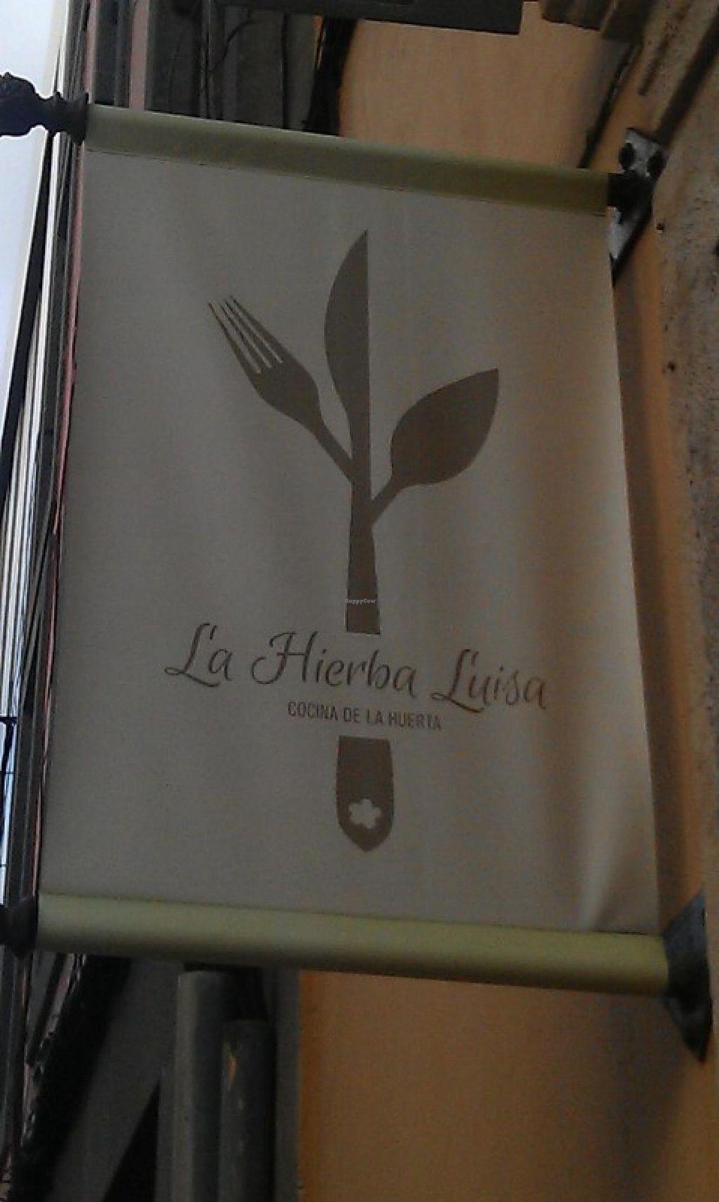 "Photo of La Hierba Luisa Cocina de la Huerta  by <a href=""/members/profile/Kato69"">Kato69</a> <br/>The sign <br/> December 31, 2014  - <a href='/contact/abuse/image/53689/89081'>Report</a>"