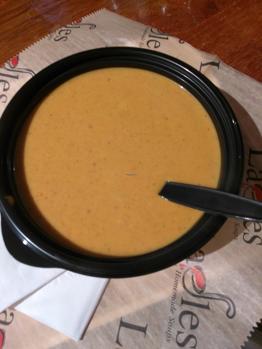 """Photo of Ladles  by <a href=""""/members/profile/maidenthesouth"""">maidenthesouth</a> <br/>Coconut curry pumpkin soup <br/> October 28, 2017  - <a href='/contact/abuse/image/53691/319422'>Report</a>"""