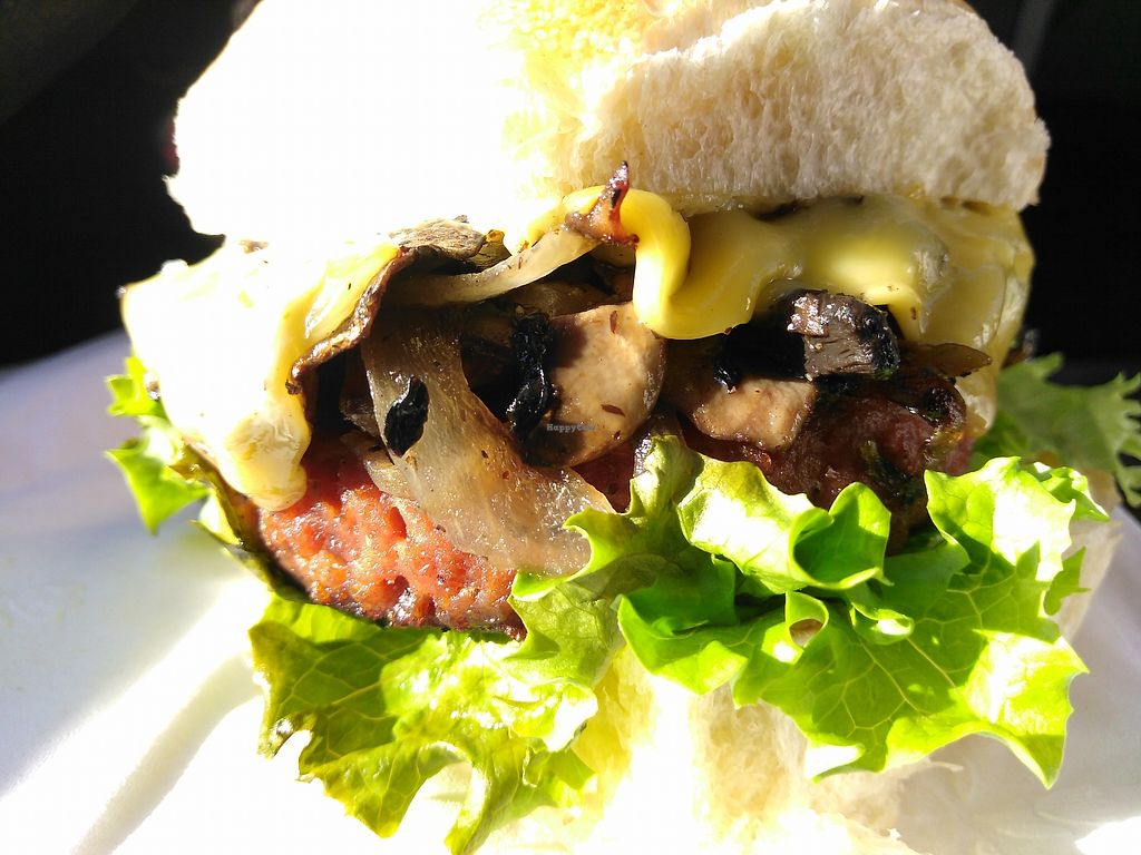 """Photo of Ladles  by <a href=""""/members/profile/maidenthesouth"""">maidenthesouth</a> <br/>Mushroom swiss(ish) beyond burger for Vegan Friday <br/> October 28, 2017  - <a href='/contact/abuse/image/53691/319426'>Report</a>"""