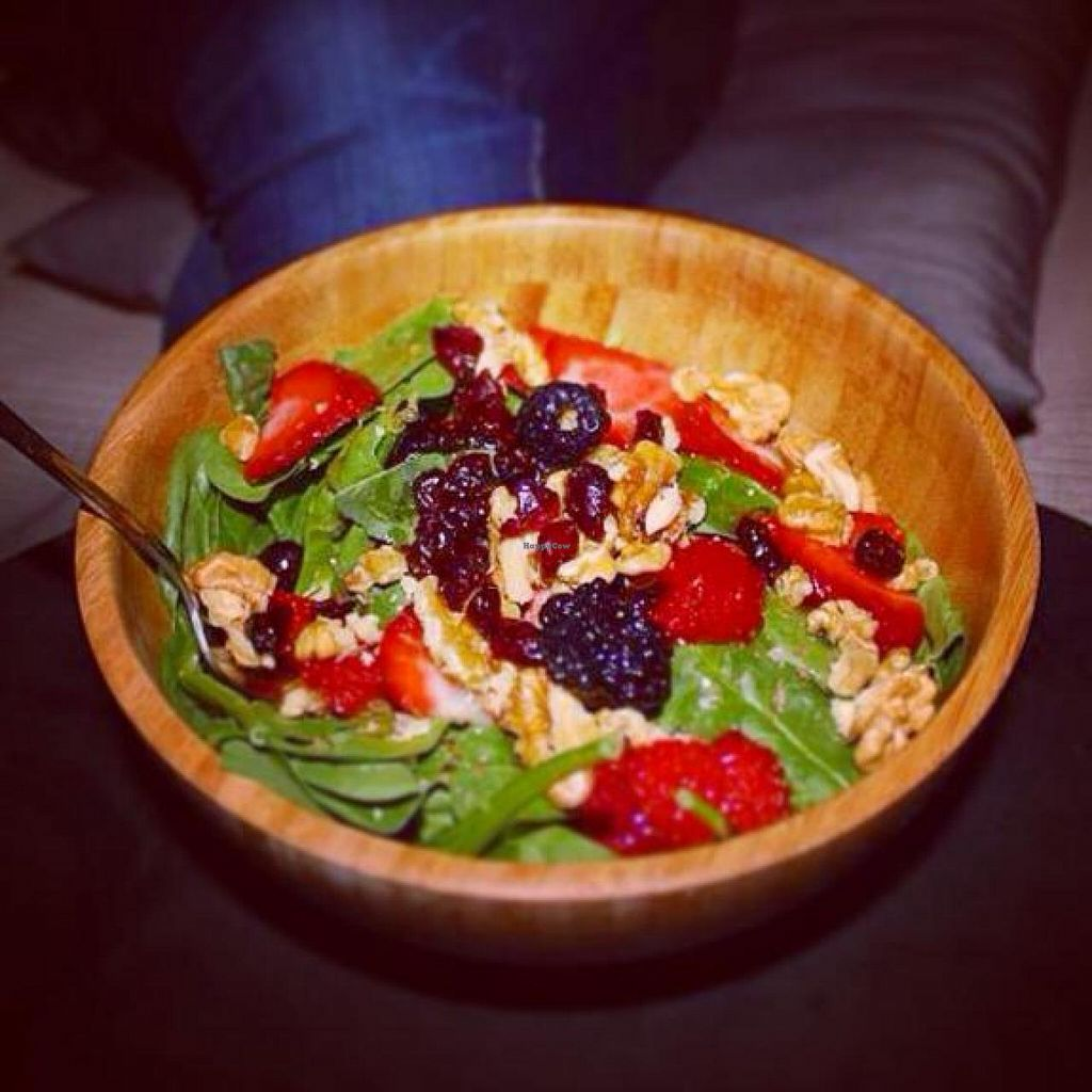 """Photo of Acai Cafe TJ  by <a href=""""/members/profile/illbethewind"""">illbethewind</a> <br/>Organic Sweet Salad <br/> December 10, 2014  - <a href='/contact/abuse/image/53705/87666'>Report</a>"""