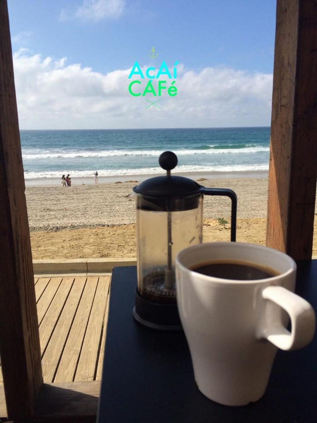 """Photo of Acai Cafe TJ  by <a href=""""/members/profile/illbethewind"""">illbethewind</a> <br/>Organic fair trade French Press Coffee.  <br/> December 10, 2014  - <a href='/contact/abuse/image/53705/87667'>Report</a>"""