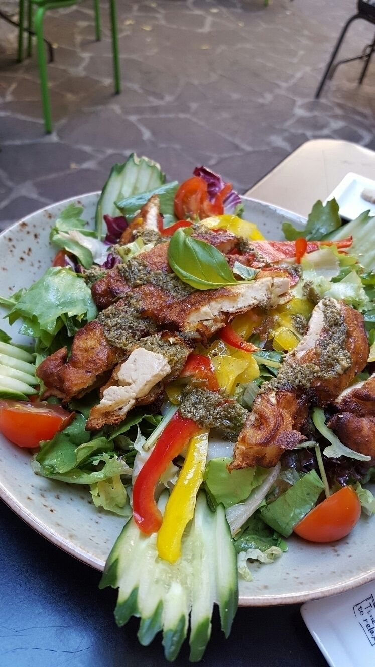 """Photo of My Heart Beats Vegan  by <a href=""""/members/profile/VeganScientist"""">VeganScientist</a> <br/>tofu di Milano salad <br/> September 8, 2016  - <a href='/contact/abuse/image/53725/174315'>Report</a>"""