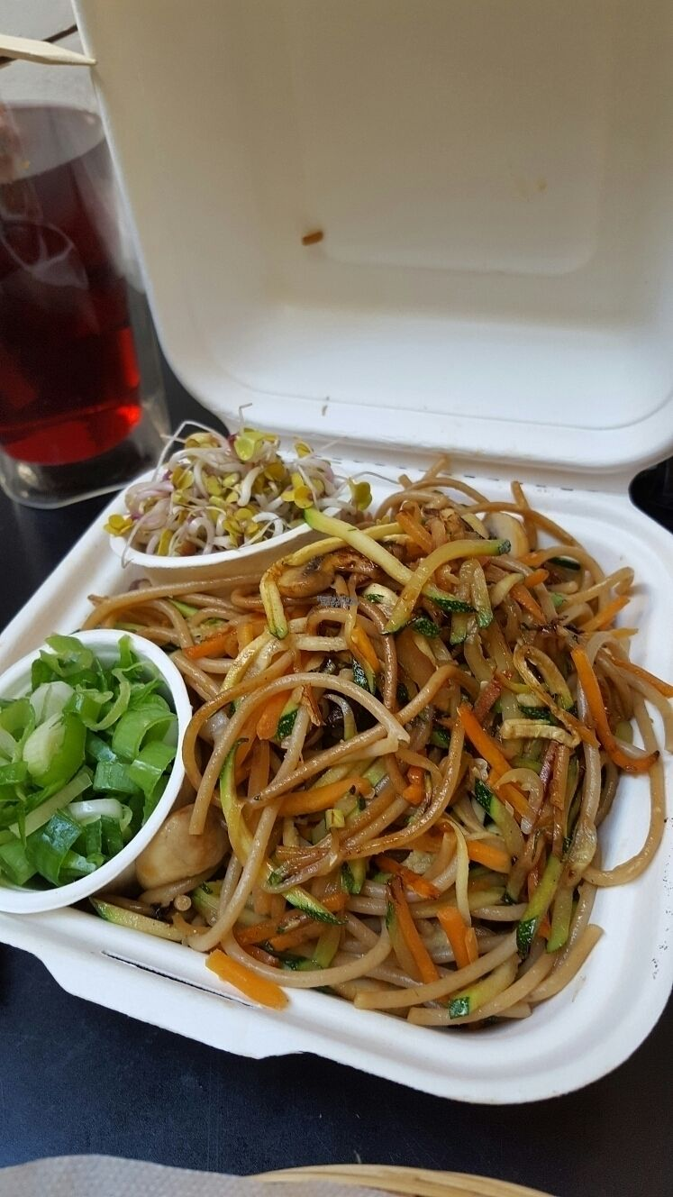 """Photo of My Heart Beats Vegan  by <a href=""""/members/profile/VeganScientist"""">VeganScientist</a> <br/>spaghetti to go <br/> September 8, 2016  - <a href='/contact/abuse/image/53725/174318'>Report</a>"""