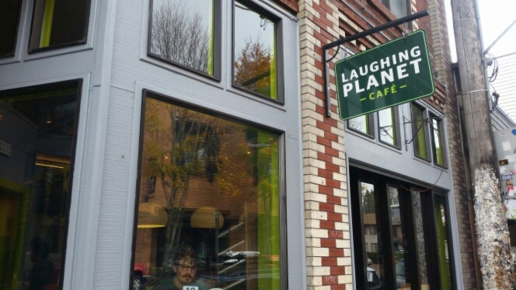 """Photo of Laughing Planet Cafe - Belmont  by <a href=""""/members/profile/kenvegan"""">kenvegan</a> <br/>outside <br/> November 18, 2015  - <a href='/contact/abuse/image/5372/125401'>Report</a>"""