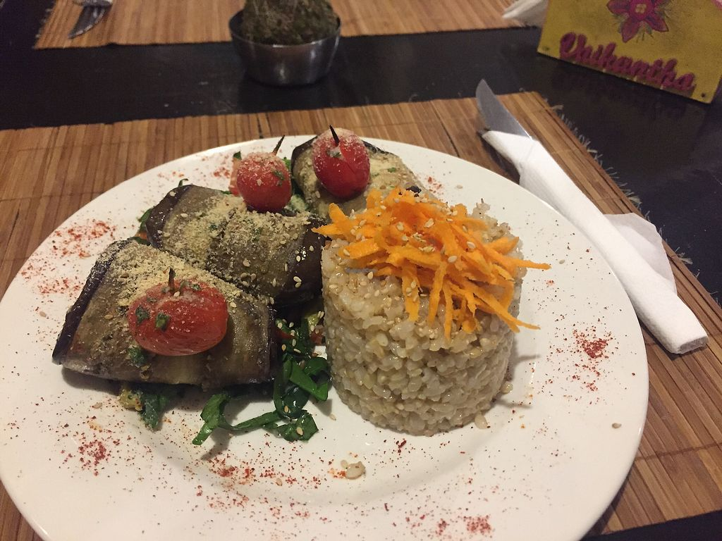 """Photo of Vaikuntha Resto  by <a href=""""/members/profile/queendotkong"""">queendotkong</a> <br/>Eggplants rolls  <br/> February 26, 2018  - <a href='/contact/abuse/image/53735/364151'>Report</a>"""