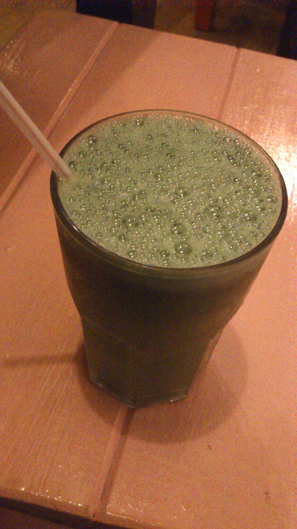"Photo of Vaikuntha Resto  by <a href=""/members/profile/citizenInsane"">citizenInsane</a> <br/>green juice (pura vida) <br/> March 17, 2015  - <a href='/contact/abuse/image/53735/96022'>Report</a>"