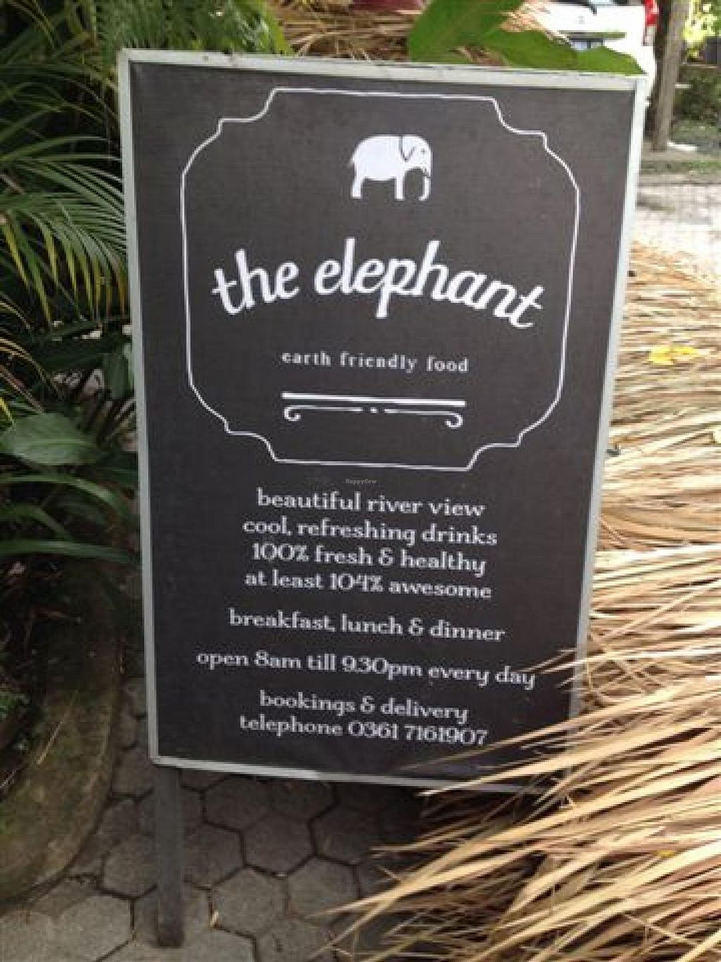 """Photo of Elephant Cafe  by <a href=""""/members/profile/ole_ersson"""">ole_ersson</a> <br/>sign posted right outside the restaurant <br/> December 11, 2014  - <a href='/contact/abuse/image/53736/87742'>Report</a>"""