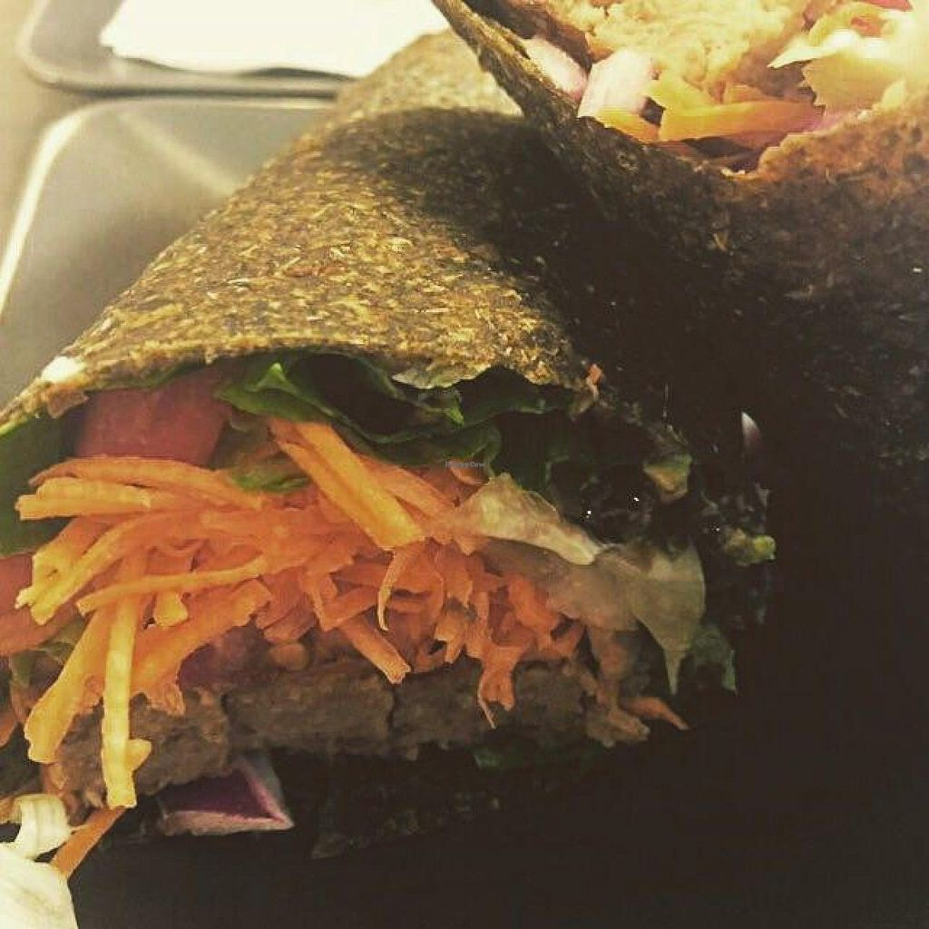 """Photo of CLOSED: Venjoy  by <a href=""""/members/profile/MerryBarrios"""">MerryBarrios</a> <br/>My boyfriend's tortilla wrap with veggie meat =) <br/> July 12, 2015  - <a href='/contact/abuse/image/53745/109025'>Report</a>"""