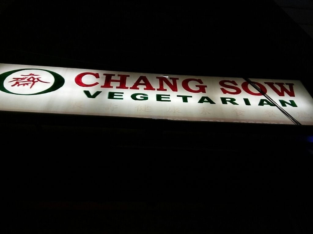 "Photo of CLOSED: Changsow Vegetarian  by <a href=""/members/profile/QueenieBee"">QueenieBee</a> <br/>Restaurant Sign at Night <br/> April 24, 2017  - <a href='/contact/abuse/image/53765/251982'>Report</a>"