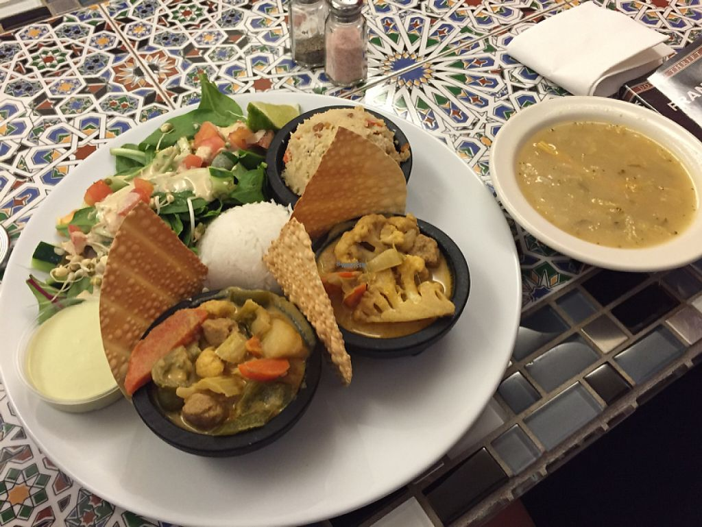 """Photo of Good Karma Cafe  by <a href=""""/members/profile/ManGaveNames"""">ManGaveNames</a> <br/>they were out of meal of day-got two servings of yummy curry! <br/> December 17, 2016  - <a href='/contact/abuse/image/53789/202097'>Report</a>"""