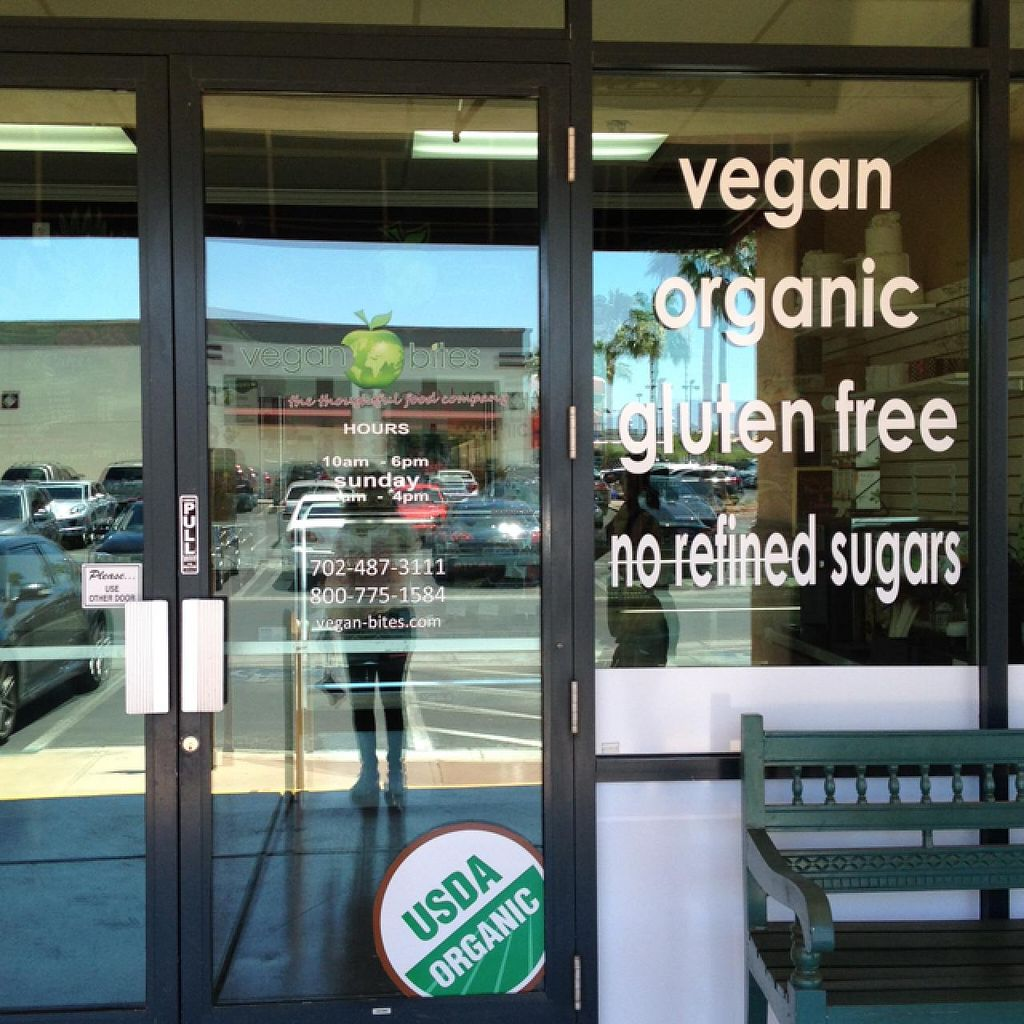 """Photo of Vegan Bites Bakery  by <a href=""""/members/profile/Tigra220"""">Tigra220</a> <br/>storefront window  <br/> June 21, 2015  - <a href='/contact/abuse/image/53802/106735'>Report</a>"""