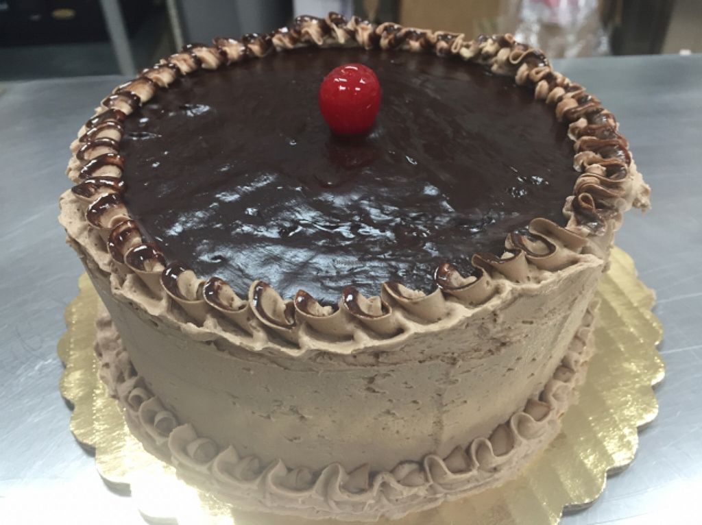 """Photo of Vegan Bites Bakery  by <a href=""""/members/profile/Headsupfirst"""">Headsupfirst</a> <br/>vegan organic mud pie cake <br/> October 4, 2015  - <a href='/contact/abuse/image/53802/120250'>Report</a>"""