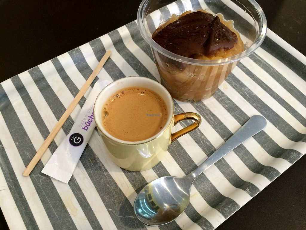 """Photo of Le Balagan  by <a href=""""/members/profile/LisaCupcake"""">LisaCupcake</a> <br/>Dessert: apple compote with a chocolate topping & coffee <br/> June 26, 2015  - <a href='/contact/abuse/image/53812/107322'>Report</a>"""