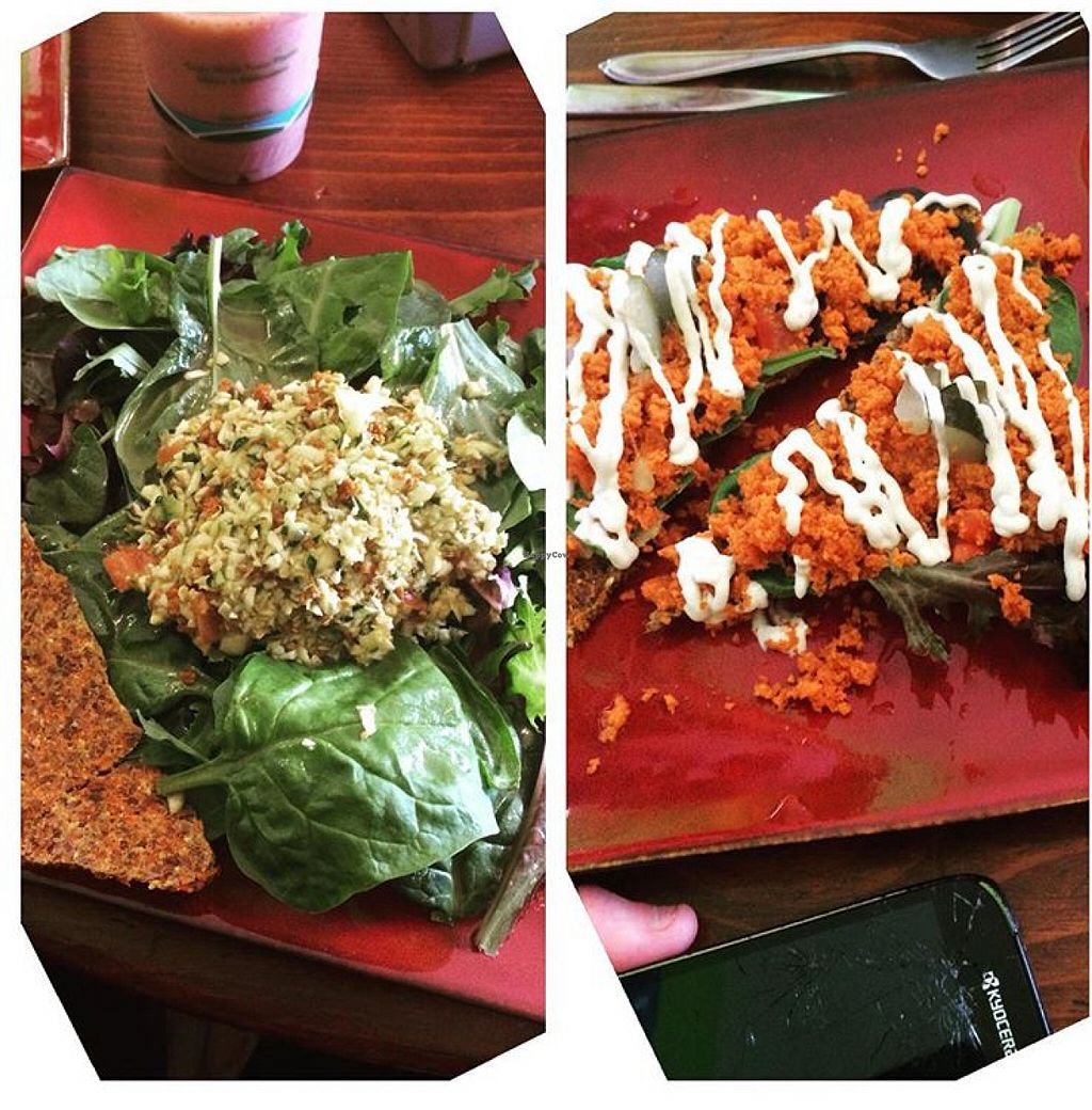 """Photo of Nucleus Raw Foods  by <a href=""""/members/profile/SamanthaBanul"""">SamanthaBanul</a> <br/>Ray's Smile on the left & Tacos on the right  <br/> June 3, 2016  - <a href='/contact/abuse/image/53830/151975'>Report</a>"""