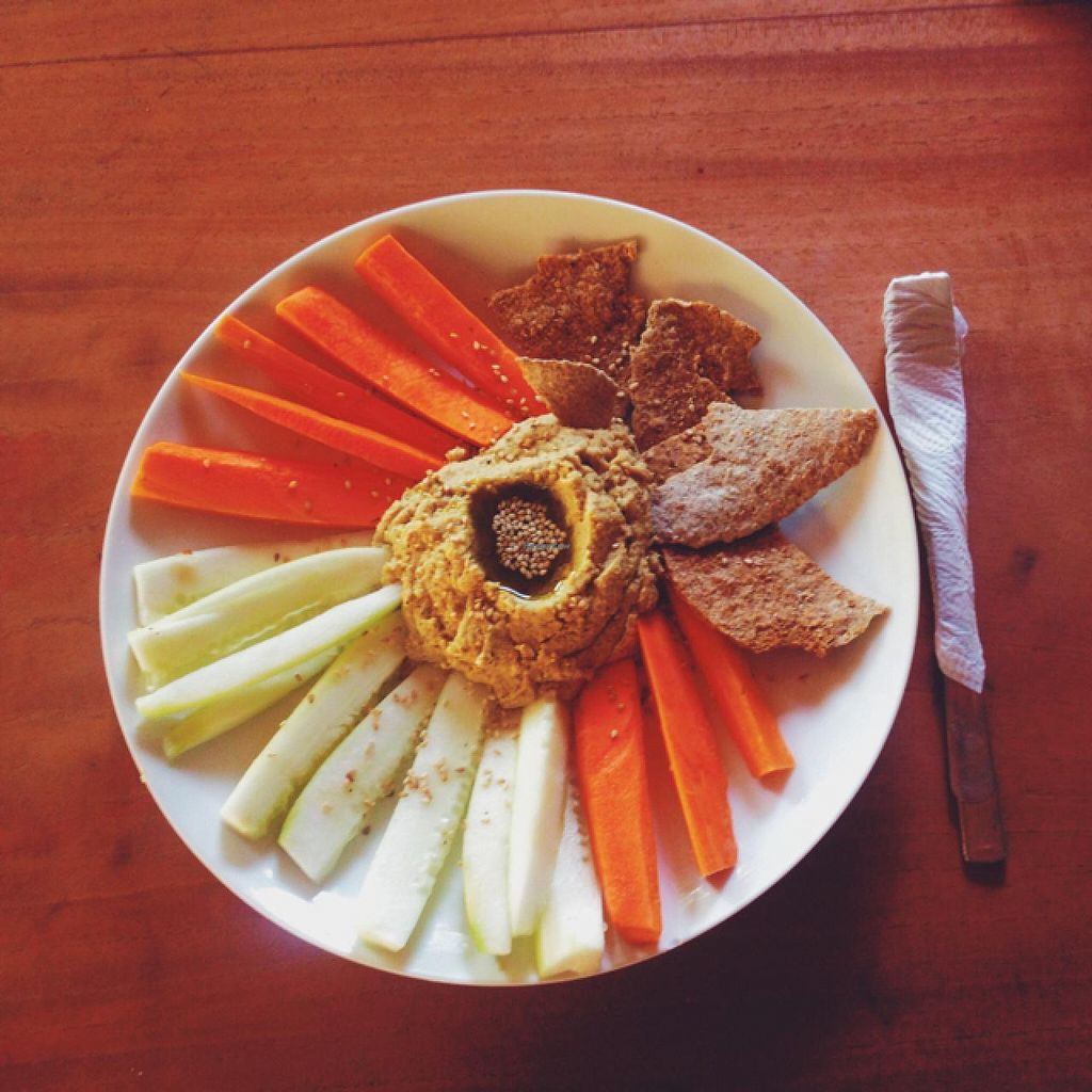"Photo of Cosmic Cocina  by <a href=""/members/profile/MO.MARIEL"">MO.MARIEL</a> <br/>hummus, cucumber, carrots and crunchy bread <br/> March 3, 2015  - <a href='/contact/abuse/image/53844/94748'>Report</a>"