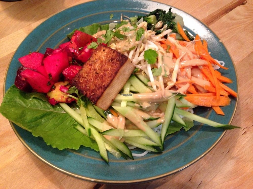 """Photo of World Peace Cafe Baltimore  by <a href=""""/members/profile/KLeksang"""">KLeksang</a> <br/>Deconstructed spring roll with peanut sauce, so awesome! <br/> September 11, 2016  - <a href='/contact/abuse/image/53847/175095'>Report</a>"""