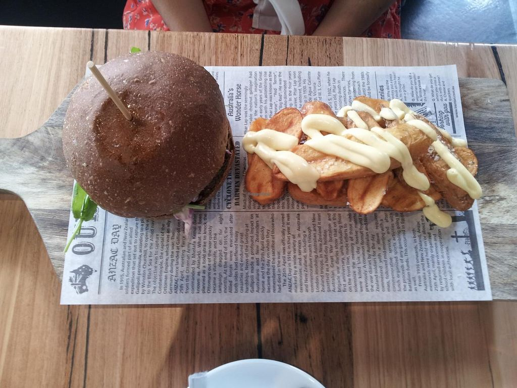 "Photo of Vege Rama - West End  by <a href=""/members/profile/necius"">necius</a> <br/>Vege Burger at Vege Rama - West End <br/> May 26, 2015  - <a href='/contact/abuse/image/53850/103464'>Report</a>"
