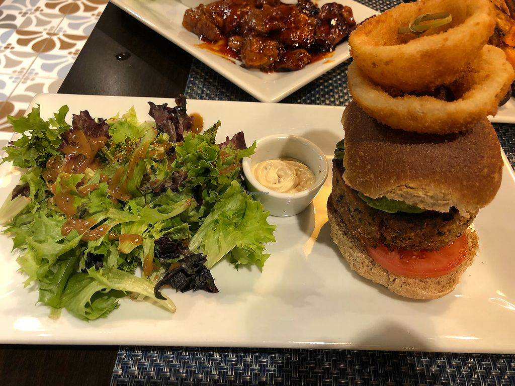 """Photo of Mint Brooklyn  by <a href=""""/members/profile/Jcaldera"""">Jcaldera</a> <br/>Chickpea and Quinoa Burger! <br/> February 9, 2018  - <a href='/contact/abuse/image/53872/357016'>Report</a>"""