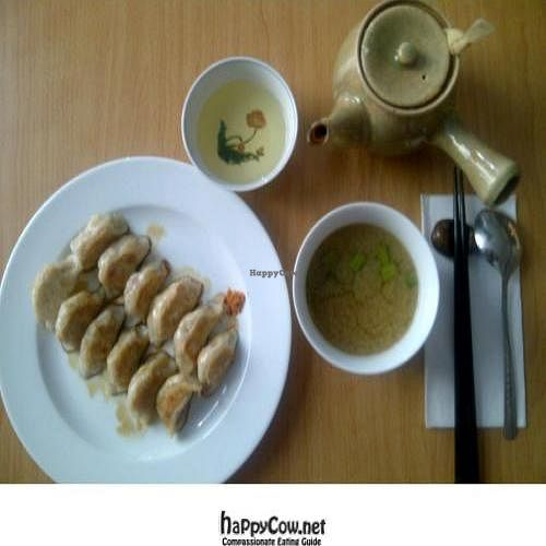 """Photo of CLOSED: Kaede  by <a href=""""/members/profile/SandyChung"""">SandyChung</a> <br/>Fried dumplings are so yummy. I'm really grateful to find this vegan cafe while I'm traveling in Munich! <br/> October 23, 2011  - <a href='/contact/abuse/image/5388/11470'>Report</a>"""