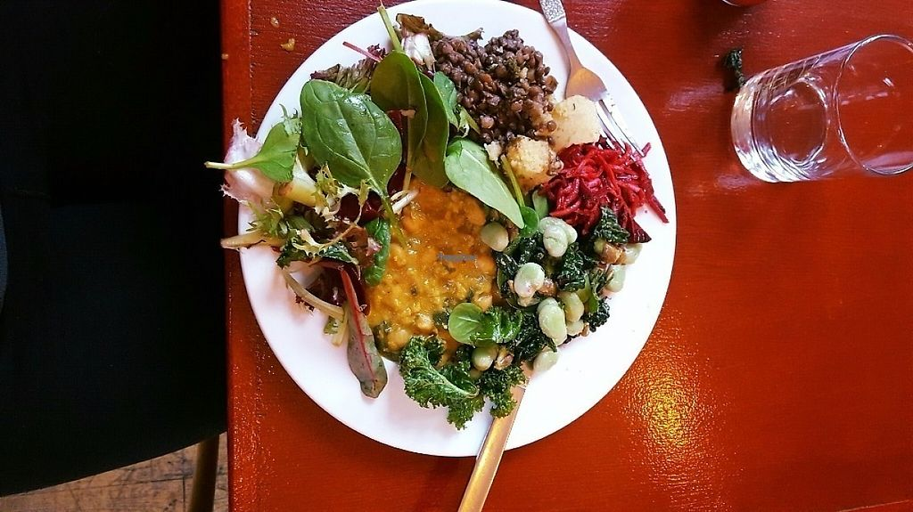 """Photo of Cafe at Jamyang  by <a href=""""/members/profile/Katnip"""">Katnip</a> <br/>Lentil Dahl with salad <br/> January 10, 2017  - <a href='/contact/abuse/image/53893/210356'>Report</a>"""