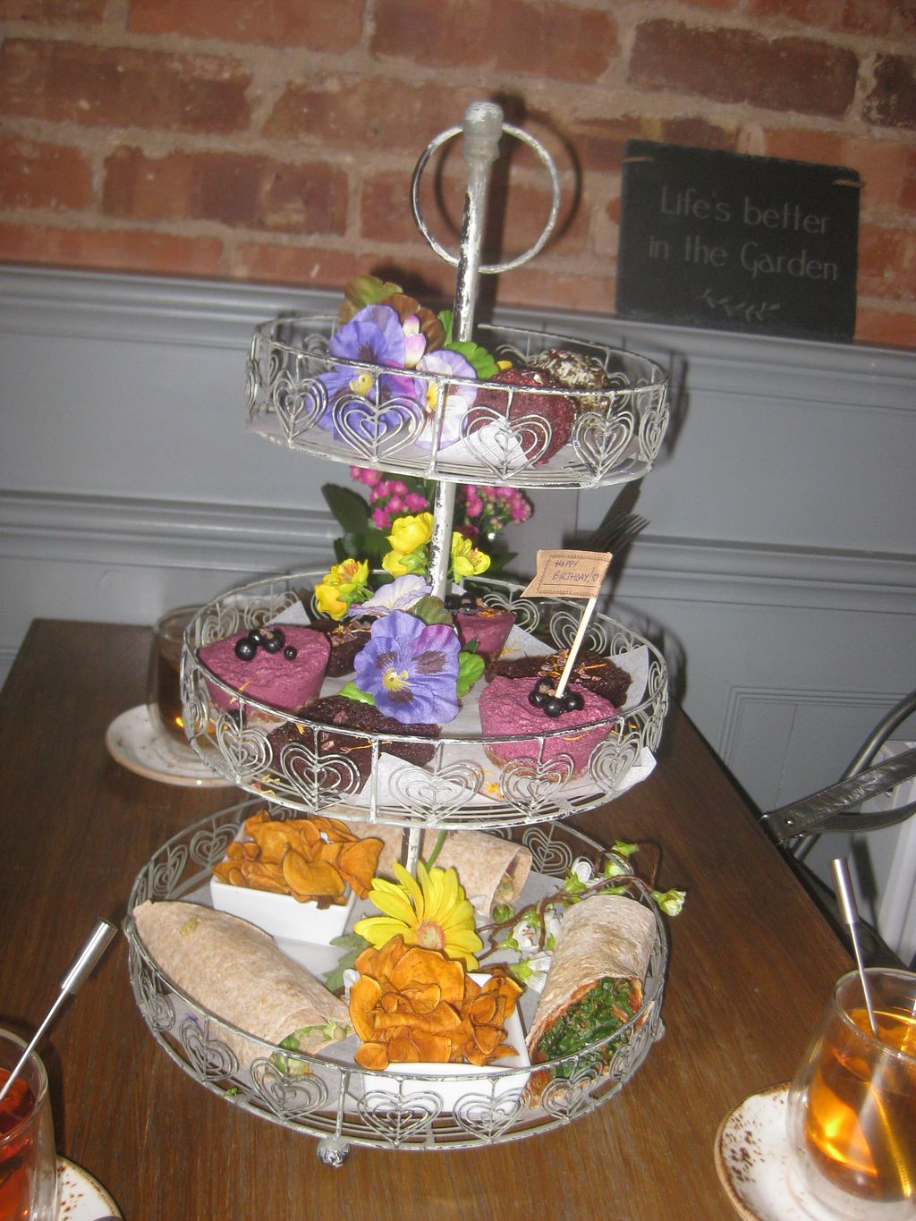 """Photo of The Garden  by <a href=""""/members/profile/jennyc32"""">jennyc32</a> <br/>Vegan afternoon tea <br/> August 9, 2015  - <a href='/contact/abuse/image/53896/112823'>Report</a>"""